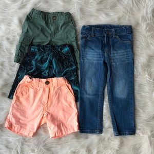 3T Shorts and jeans EUC Carter's & Jumping Bean